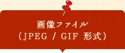 画像ファイル (JPEG/GIF)